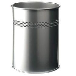 DURABLE Kosz na śmieci, metalowy, okragły, 30mm, srebrny