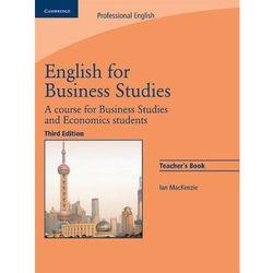 English For Business Studies. 3th Edition. Książka Nauczyciela (opr. miękka)