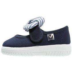 Victoria Shoes LONA PANUELO Baleriny z zapięciem marino