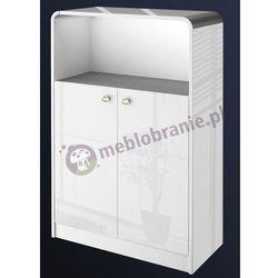 Biała szafka aktowa wysoki połysk Murano