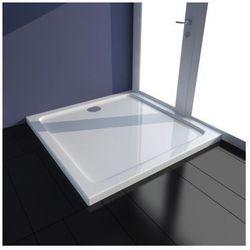Kwadratowy brodzik prysznicowy ABS biały 80 x 80 cm Zapisz się do naszego Newslettera i odbierz voucher 20 PLN na zakupy w VidaXL!