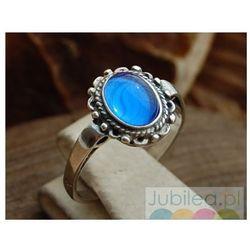 ARAGONIA - srebrny pierścionek z szafirem