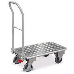 Aluminiowy wózek magazynowy ze składanym pałąkiem