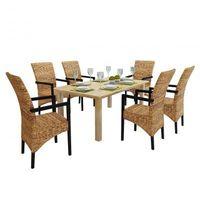 6 x ręcznie tkanych krzeseł do jadalni z podłokietnikami Zapisz się do naszego Newslettera i odbierz voucher 20 PLN na zakupy w VidaXL!