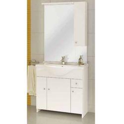 DEFTRANS MALIBU Z85 Zestaw łazienkowy szafka 4D1S + umywalka + lustro z oświetleniem, biały 106-Z-08502+1524