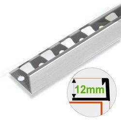 Listwa Wykończeniowa Do Gresu ASPRO 12mm Aluminiowa Surowa