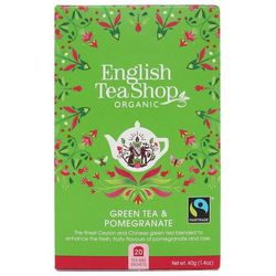 Zielona herbata z granatem 20x2 g BIO 40 g English Tea Shop