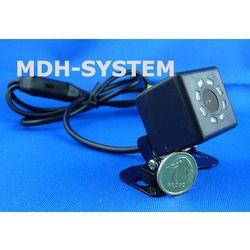 Kamera samochodowa, kamera cofania, MINIATUROWA, DZIEŃ/NOC, uniwersalna, 8 diod IR, 8IR-81603003