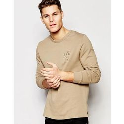 ASOS Sweatshirt With NYC Chest Print - Beige