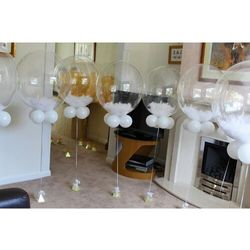 Kropki grochy kula transparentny bubble deco balon qualatex 20''