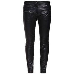 Oakwood Spodnie skórzane noir