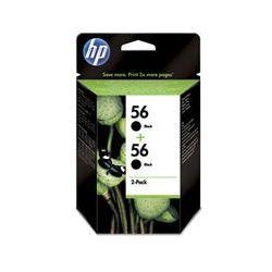 Oryginał Zestaw dwóch tuszy HP 56 do Deskjet 450/5550, PSC 1215/2210 | 2 x 19ml | czarny black