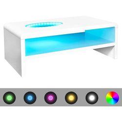 vidaXL Stolik do salonu, biały, wysoki połysk, LED, 42 cm Darmowa wysyłka i zwroty
