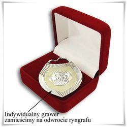 Srebrny ryngraf na Chrzest Św. w ozdobnym pudełeczku z opcją grawerowania