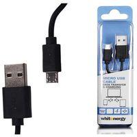 Kabel USB Whitenergy do przesyłu danych, wtyczka USB 2.0 na micro czarny (09967) Darmowy odbiór w 19 miastach!