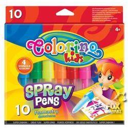Flamastry dmuchane COLORINO pisaki 10 kolorów