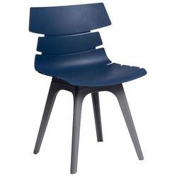 Krzesło Techno z szarą podstawą - niebieski