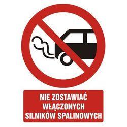 Nie zostawiać włączonych silników spalinowych