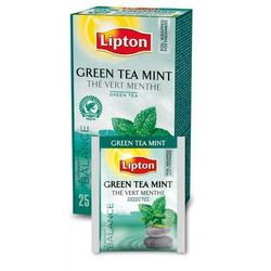 Herbata Lipton Green Tea Mint 25 kopert foliowych