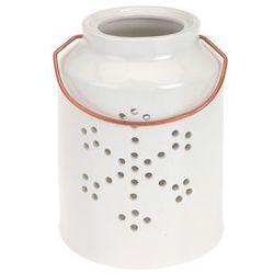 Lampion ceramiczny ze śnieżynką