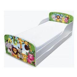 Łóżko dziecięce - zwierzaki rozrabiaki z szufladą
