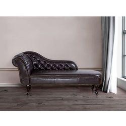 Sofa brązowa - skóra ekologiczna - kanapa – szezlong – chesterfield – NIMES