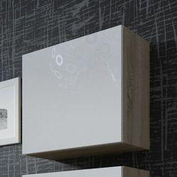 VIGO szafka wisząca na wysoki połysk - dąb sonoma ||biały