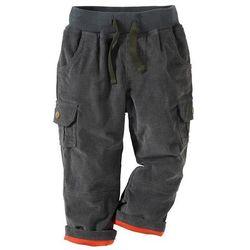Spodnie sztruksowe ocieplane bonprix antracytowy