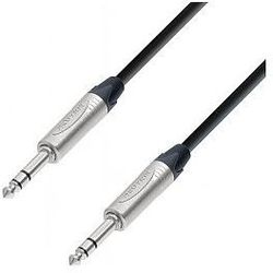 Adam Hall Cables 5 Star Series - Microphone Cable Neutrik 6.3 mm Jack stereo / 6.3 mm Jack stereo 1 m przewód mikrofonowy