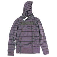 bluza BENCH - Her. Printed Stripe Corp Hoodie Winter Antracite Marl (MA1055) rozmiar: L
