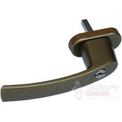 Klamka z kluczykiem ze stopu aluminium, KATLER - złoty