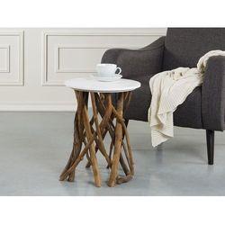 Stolik kawowy bialy - lawa - kawowa - stól - HOUMA