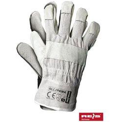 promocja! Rękawice robocze wzmacniane skórą licową RLCJPAWA rozmiar 10