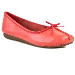 Baleriny CLARKS - Freckle Ice 261083384 Coral Leather