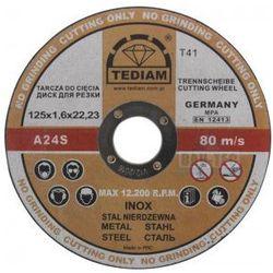 Tarcza do cięcia metalu i stali nierdzewnej INOX 125 x 1.6 TEDIAM