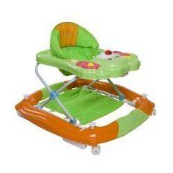Chodzik kołyska miś zielono pomarańczowy Sun Baby SB-305R/1/ZP