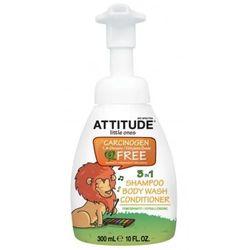 Attitude Little Ones hypoalergiczna pianka do mycia ciała i włosów z odżywką 3 w 1 300 ml