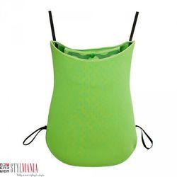 Dwustronna torba na wózek z neoprenu 40 Settimane zielona w kropki