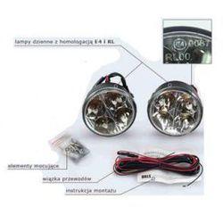 Profesjonalne Okrągłe Halogeny LED do Jazdy Dziennej 2x4 LED.