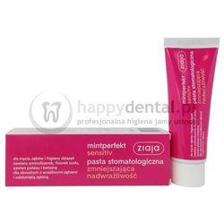 ZIAJA MINTPERFECT SENSITIVE pasta 75ml - pasta do zębów zmniejszająca objawy nadwrażliwości zębowej, zawierająca aminofluorek, fluorek sodu i azotan potasu