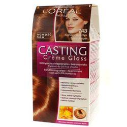 Loreal Paris Casting Creme Gloss Farba do włosów bez amoniaku Ognisty Bursztyn nr 743