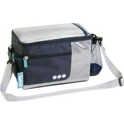 Torba termoizolacyjna, pasywna Ezetil Travel in Style 5 Bike Bag 723630, 5 l, Navy, Srebrny, do montażu na kierownicy roweru