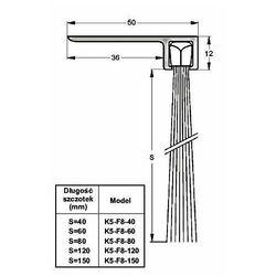 Listwa progowa STRIBO F8-60 1 mb