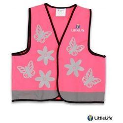 LIFEMARQUE LittleLife - Kamizelka odblaskowa Motylki - rozmiar S