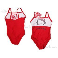Hello Kitty strój kąpielowy dla dziewczynki Biało-czerwony