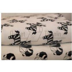 Dresówka drukowana jersey Premium - Zebry