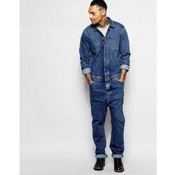 ASOS Boiler Suit In Denim Mid Blue - Blue