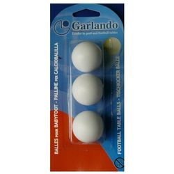 Piłeczka GARLANDO WHITE - blister 3 szt.