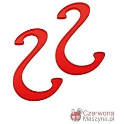 2 Haczyki łazienkowe Koziol Hook czerwone przezroczyste