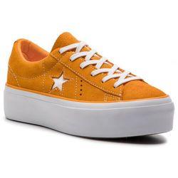 80c95f4bef235 Tenisówki CONVERSE - One Star Platform Ox 563487C Field Orange/White/White.  eobuwie.pl